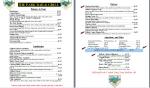 The Park's menu