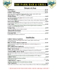 The Park Menu Pg 1